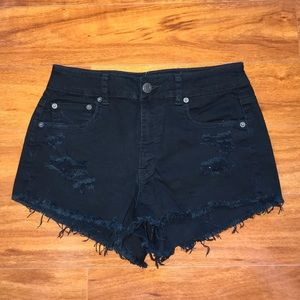 American Eagle Black High Waisted Shorts
